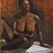Nude Seated on Floor