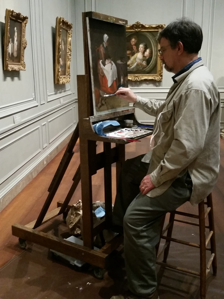 Tom Semmes copying at the National Gallery