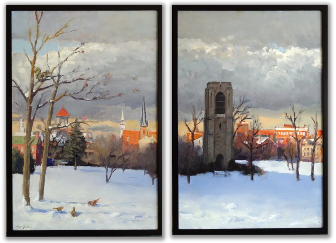 Diptych Baker Park Winter